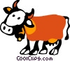 Vector Clipart graphic  of a Cows