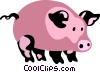 Pigs Vector Clipart picture