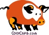 Pigs Vector Clipart illustration