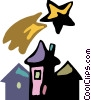 Vector Clipart illustration  of a Urban Housing