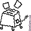 Vector Clipart picture  of a Toasters