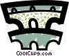 Vector Clip Art picture  of a Roman Aqueducts and Walls
