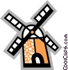 Vector Clipart illustration  of a Dutch Windmills