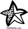 Vector Clip Art image  of a Starfish