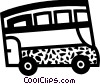 Vector Clip Art picture  of a Tour Buses