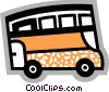 Tour Buses Vector Clip Art graphic