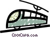 Vector Clip Art picture  of a Streetcars Trams and Trolleys