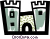 Vector Clipart picture  of a Castles