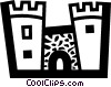 Castles Vector Clipart graphic