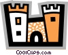 Vector Clipart illustration  of a Castles