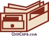 Vector Clip Art image  of a Wallets