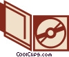 Vector Clipart illustration  of a CD-ROM Media