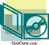Vector Clip Art picture  of a CD-ROM Media