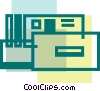 Vector Clip Art image  of a Circuit Boards