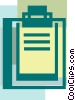Vector Clipart illustration  of a Clipboards