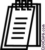 Vector Clipart picture  of a Notepad