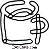Cups of Coffee Vector Clipart illustration