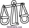 Scales of Justice Vector Clip Art image