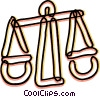 Scales of Justice Vector Clip Art picture