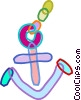 Anchors Vector Clip Art graphic