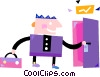 Businessmen Vector Clipart graphic