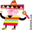 Vector Clipart graphic  of a Mexican and Spanish