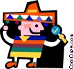 Vector Clip Art image  of a Mexican and Spanish