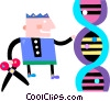 Vector Clip Art image  of a DNA