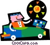Solar Vector Clipart graphic