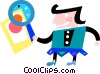 Investigation and Research Vector Clip Art picture