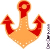 Vector Clip Art image  of an Anchors