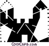 Vector Clip Art image  of a Castles