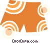 Vector Clipart picture  of a Shorts