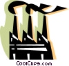 Factories and Refineries Vector Clipart illustration