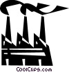 Vector Clipart graphic  of a Factories and Refineries