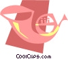 Vector Clip Art image  of a French Horns