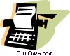 Typewriters Vector Clip Art picture