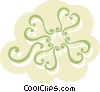 Decorative Floral Elements Vector Clipart graphic