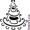 Vector Clip Art graphic  of a Cakes