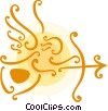 Vector Clipart image  of an Angels