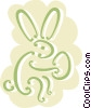 Easter bunny with an Easter egg Vector Clipart picture