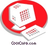 Vector Clipart graphic  of a Computer Desktop Systems