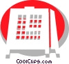 Vector Clipart illustration  of a Mantle Clocks