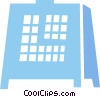 Vector Clip Art picture  of a Mantle Clocks