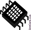 Vector Clipart illustration  of a Chips and Processors