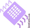 Vector Clipart image  of a Chips and Processors