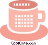 Vector Clipart graphic  of a Cups of Coffee