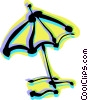 Vector Clip Art image  of a Umbrellas
