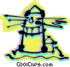 Lighthouses Vector Clip Art graphic