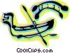Vector Clipart graphic  of a Gondolas